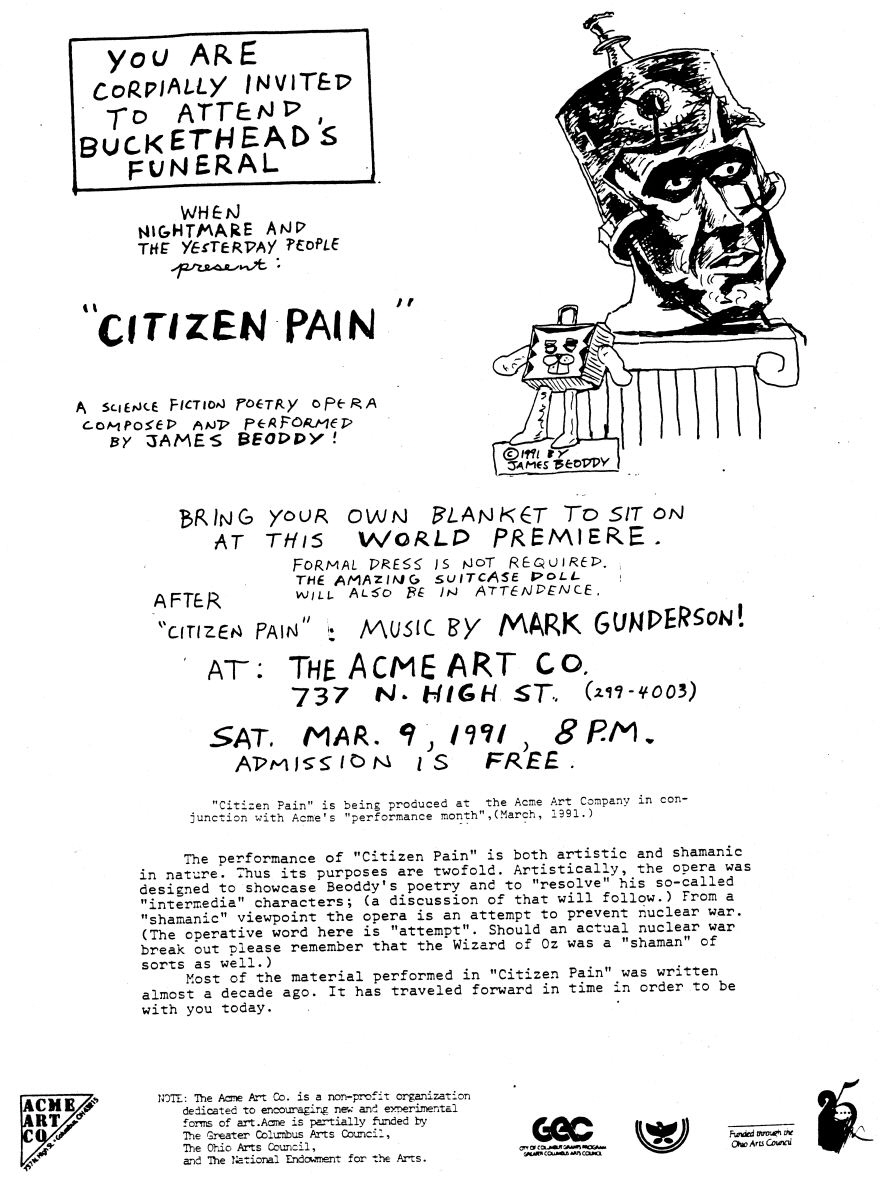 Program for Citizen Pain - Page 1