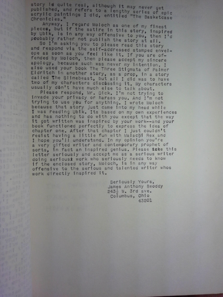Letter To Philip Dick - Page Two