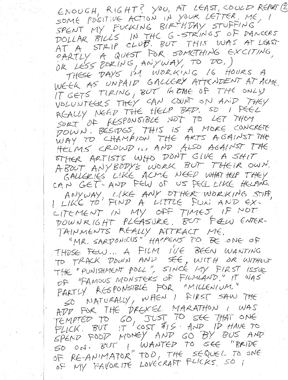 Letter To Thomas - Front of Page Two
