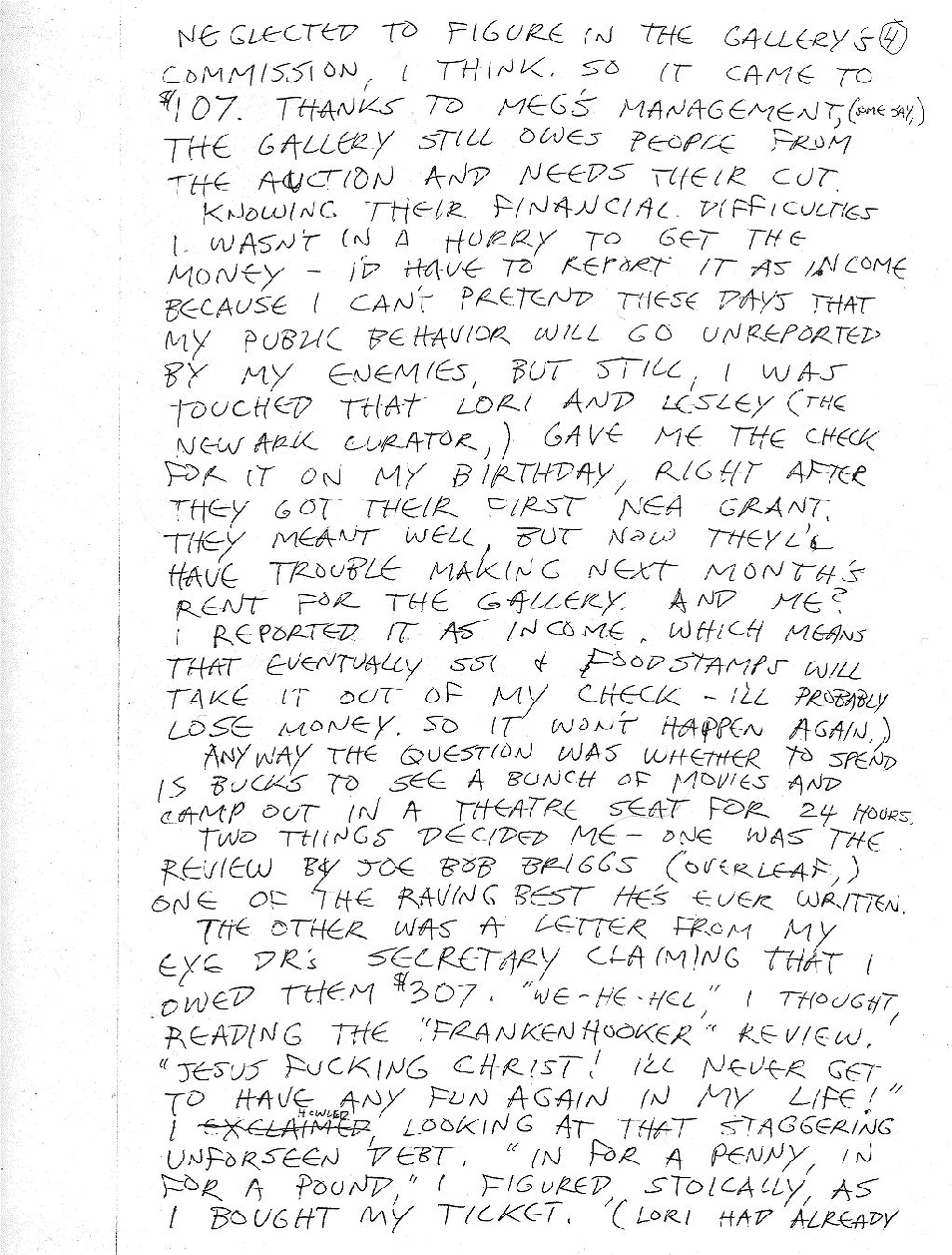 Letter To Thomas - Front of Page Four