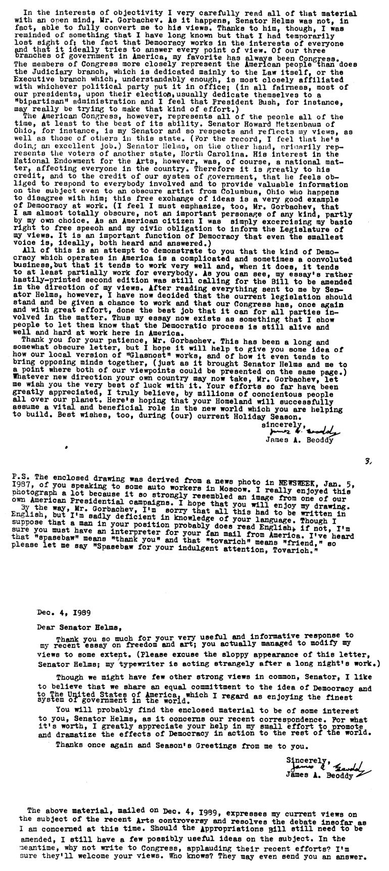 Letter To Mikhail Gorbachev - Page Two